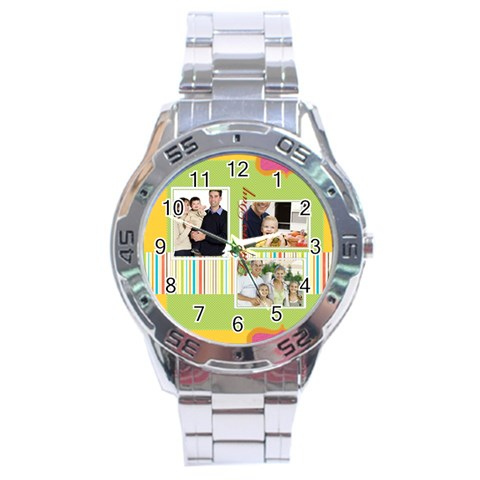 Fathers Day By Dad   Stainless Steel Analogue Watch   Kn9eoa8oblfa   Www Artscow Com Front