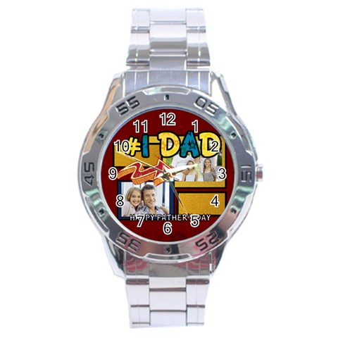 Fathers Day By Dad   Stainless Steel Analogue Watch   Ef7svd6o11ss   Www Artscow Com Front