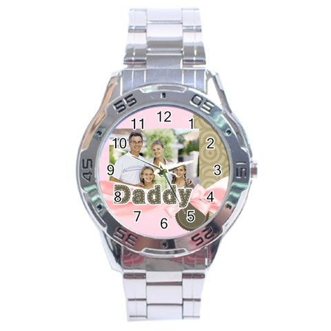 Fathers Day By Dad   Stainless Steel Analogue Watch   Z1j34esd3tvy   Www Artscow Com Front