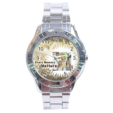 Fathers Day By Dad   Stainless Steel Analogue Watch   5x9992gmo095   Www Artscow Com Front