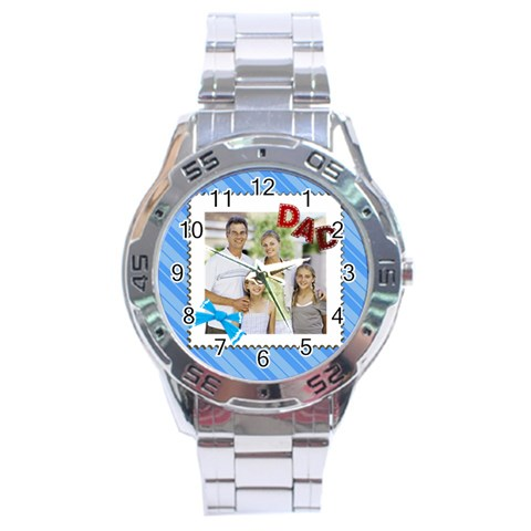 Fathers Day By Dad   Stainless Steel Analogue Watch   Yklpficxmrk4   Www Artscow Com Front