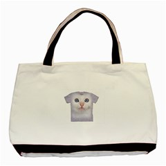Cute Cat Twin Sided Black Tote Bag by SweetCat