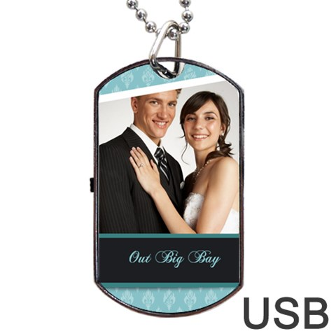 Wedding By Paula Green   Dog Tag Usb Flash (one Side)   Vftgtaa61a9h   Www Artscow Com Front