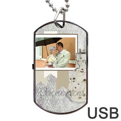 Wedding By Paula Green   Dog Tag Usb Flash (two Sides)   5q8v1jnbxv9y   Www Artscow Com Back