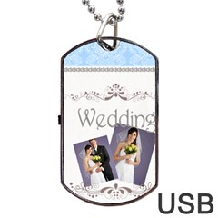 Wedding By Paula Green   Dog Tag Usb Flash (two Sides)   Q2svgl0zybdi   Www Artscow Com Front