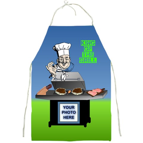 King Of The Grill s Apron By Joy Johns   Full Print Apron   O5oy2c4vyya7   Www Artscow Com Front