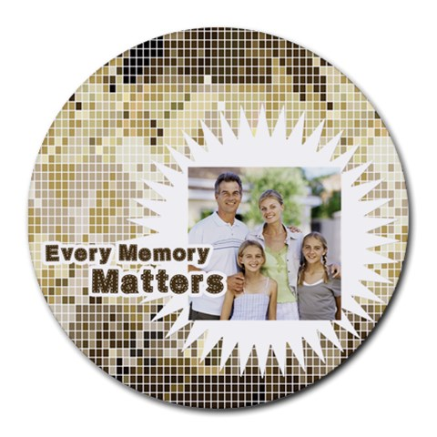 Fathers Day By Dad   Collage Round Mousepad   14e5e51d86ic   Www Artscow Com 8 x8 Round Mousepad - 1
