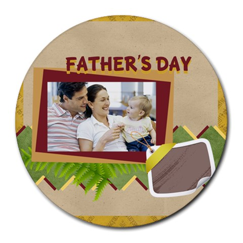 Fathers Day By Dad   Collage Round Mousepad   0b9kcmm49p9y   Www Artscow Com 8 x8 Round Mousepad - 1