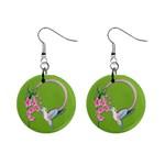 Humming Bird Earrings - 1  Button Earrings