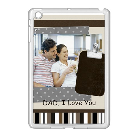 Fathers Day By Dad   Apple Ipad Mini Case (white)   Fwy2kldfdhv0   Www Artscow Com Front