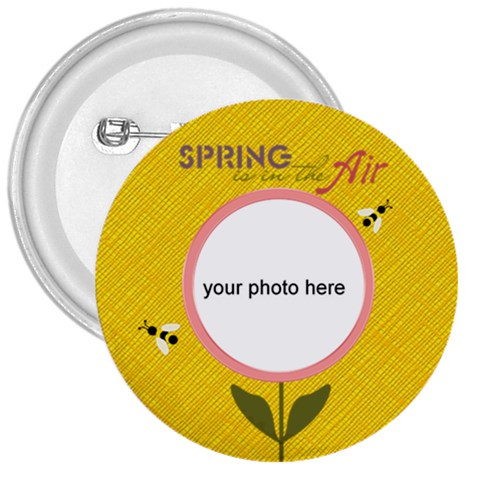 Spring Is In The Air Button 3  By Zornitza   3  Button   4febb4hb5yom   Www Artscow Com Front