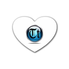 Small Logo Of Trickytricks Drink Coasters 4 Pack (heart)