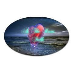 As The Rain Falls Magnet (oval) by AuthorPScott