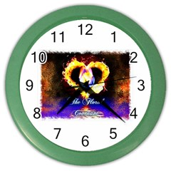Thefloralcovenant Wall Clock (color) by AuthorPScott