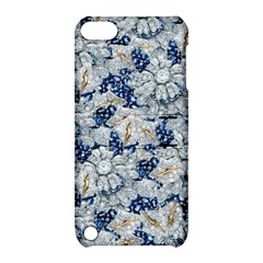 Flower Sapphire And White Diamond Bling Apple Ipod Touch 5 Hardshell Case With Stand by artattack4all