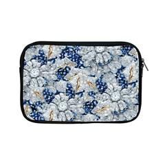 Flower Sapphire And White Diamond Bling Apple Ipad Mini Zipper Case by artattack4all