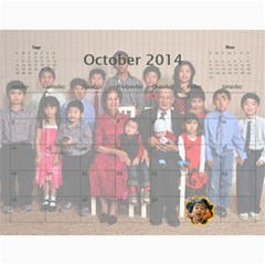 L?ch T?t 2013 2014 By Phungm   Wall Calendar 11  X 8 5  (18 Months)   Ljvpt9b9dyzo   Www Artscow Com Oct 2014