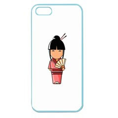 Japanese Geisha Apple Seamless Iphone 5 Case (color) by KujiKujistore