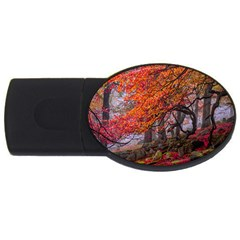 Earth Forest And Flowers In Autumn USB Flash Drive Oval (4 GB) by WordArtGift