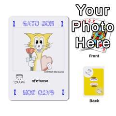 Gato Bom Gato Mau By Alan Romaniuc   Playing Cards 54 Designs   Romh4c1ygh4o   Www Artscow Com Front - Spade2