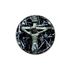 Jesus On Cross Christian Fathers Love Hat Clip Ball Marker (4 pack) by WordArtGift