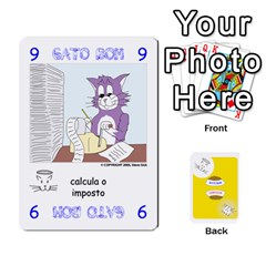 Gato Bom Gato Mau By Alan Romaniuc   Playing Cards 54 Designs   0qr64pa1fo9k   Www Artscow Com Front - Heart6