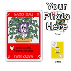 Gato Bom Gato Mau By Alan Romaniuc   Playing Cards 54 Designs   0qr64pa1fo9k   Www Artscow Com Front - Heart8