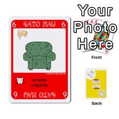 Gato Bom Gato Mau By Alan Romaniuc   Playing Cards 54 Designs   0qr64pa1fo9k   Www Artscow Com Front - Diamond7