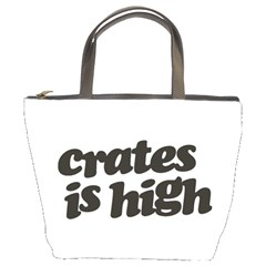 Crates Is High   Black Print Bucket Bag by ResearchDeluxe