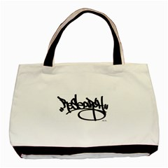 Rdlx Handstyle   Black Print Twin Sided Black Tote Bag by ResearchDeluxe