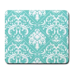 Tiffany Blue And White Damask Large Mouse Pad (rectangle) by eatlovepray