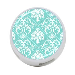Tiffany Blue And White Damask 4 Port Usb Hub (one Side) by eatlovepray