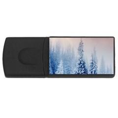 Earth Winter Snow Tree USB Flash Drive Rectangular (4 GB) by WordArtGift