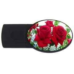 Earth Red Rose You Are More Beautiful Than Rose USB Flash Drive Oval (2 GB) by WordArtGift