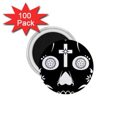 Sugar Skull 1 75  Button Magnet (100 Pack) by asyrum