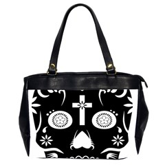 Sugar Skull Oversize Office Handbag (two Sides) by asyrum