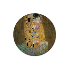 Klimt   The Kiss Drink Coaster (round) by ArtMuseum