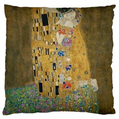 Klimt   The Kiss Large Cushion Case (one Side) by ArtMuseum