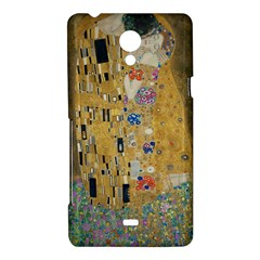 Klimt - The Kiss Sony Xperia T Hardshell Case  by ArtMuseum