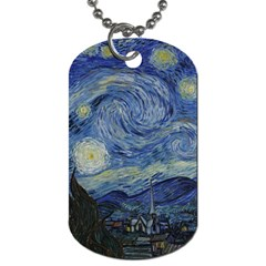 Starry Night Dog Tag (two Sided)  by ArtMuseum