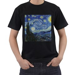 Starry Night Mens' Two Sided T Shirt (black) by ArtMuseum