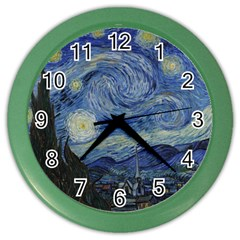 Starry Night Wall Clock (color) by ArtMuseum