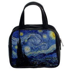 Starry Night Classic Handbag (two Sides) by ArtMuseum