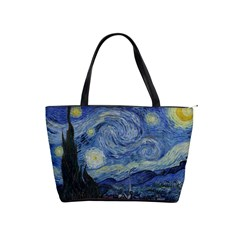 Starry Night Large Shoulder Bag by ArtMuseum