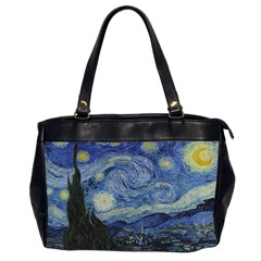 Starry Night Oversize Office Handbag (two Sides) by ArtMuseum