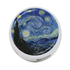 Starry Night 4 Port Usb Hub (one Side) by ArtMuseum
