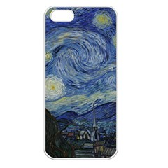Starry Night Apple Iphone 5 Seamless Case (white) by ArtMuseum