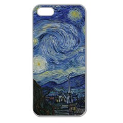 Starry Night Apple Seamless Iphone 5 Case (clear) by ArtMuseum