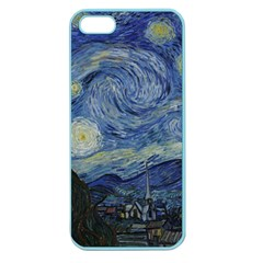 Starry Night Apple Seamless Iphone 5 Case (color) by ArtMuseum