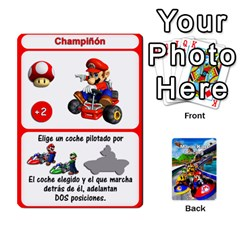 Queen Mario Kart Racing Reedit Huan Solo Y Yun By Roger Orellana   Playing Cards 54 Designs   Qm9tq01aki19   Www Artscow Com Front - HeartQ